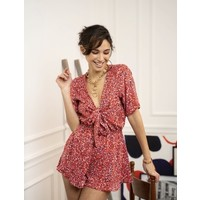 LITTLE RED FLOWER PLAYSUIT