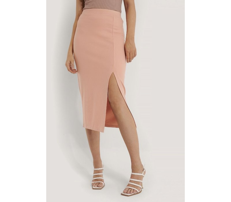 SLIDE SLIT JERSEY SKIRT PINK