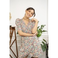 CELINE GREEN FLOWER DRESS