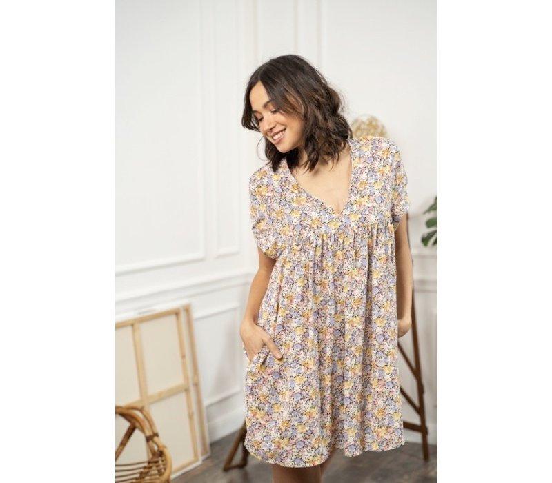 FLOWER SHORT DRESS