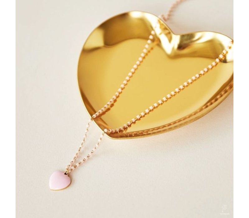 PINK HEART ADORABLE NECKLACE