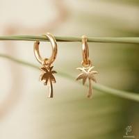 PALMTREE EARRINGS GOLD