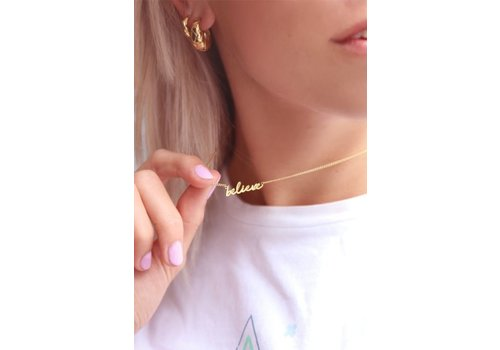 BELIEVE NECKLACE GOLD