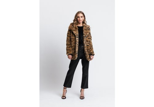 RUT AND CIRCLE NOVA FAUX FUR JACKET