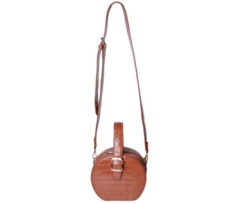 CROCO ROUND BAG
