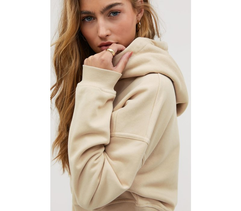 HERE FOR YOU BEIGE HOODIE