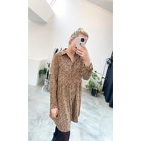 BROWN SHORT ELLA DRESS