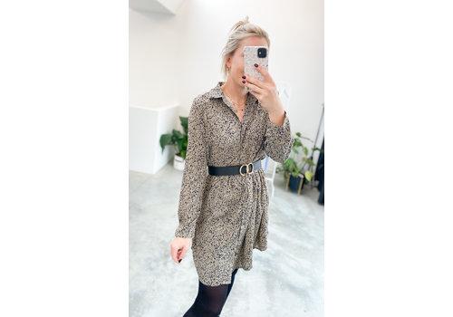 GREY SHORT LEO DRESS
