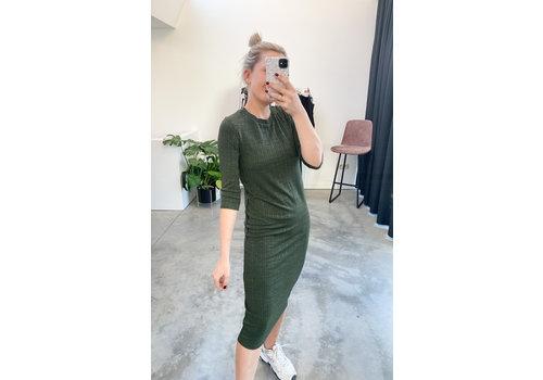TOUCH OF GREEN GLITTER DRESS