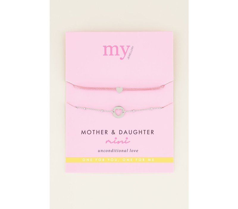 MOTHER AND DAUGHTER MINI - SILVER