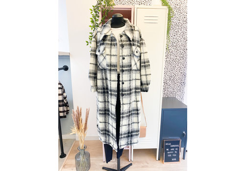 BEA BLACK CHECKED VESTE - TU