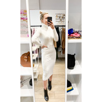 MARIE TIE KNITTED DRESS OFFWHITE - TU