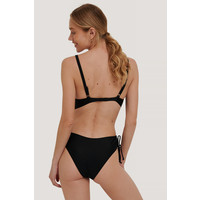 SIDE STRAPS SWIMSUIT BLACK