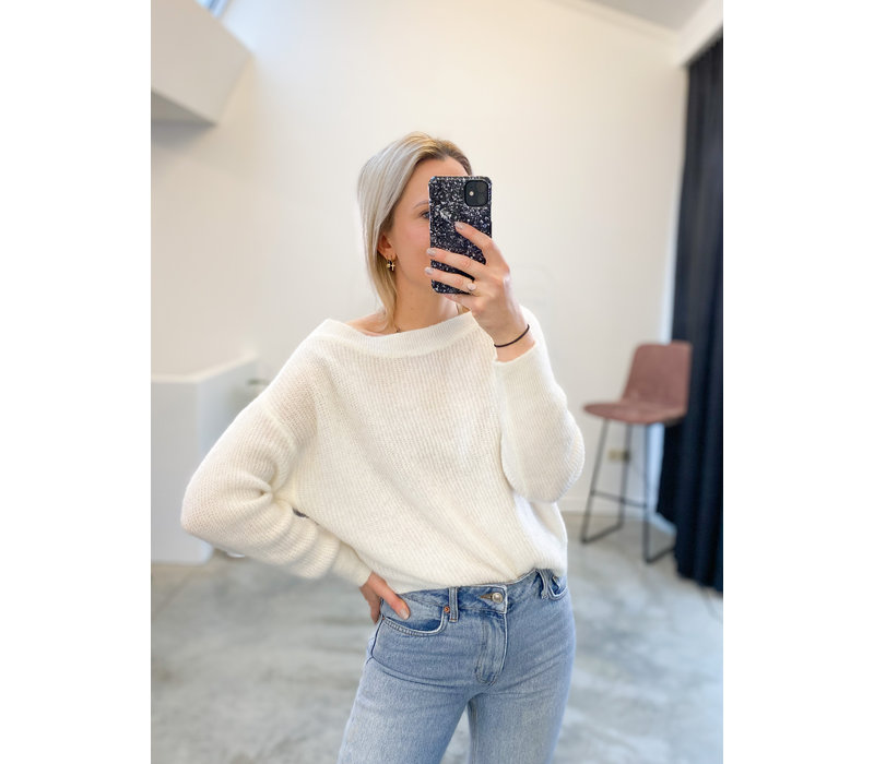 JUNE WHITE KNIT - TU