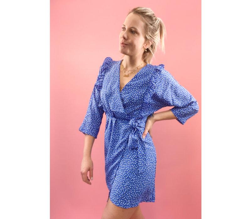 VIV SPOTTED BLUE DRESS