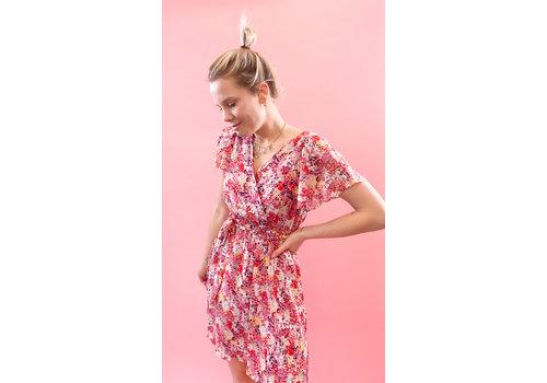 PEGGY PINK FLOWER DRESS