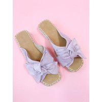 ALISON BOW SLIPPERS LILA
