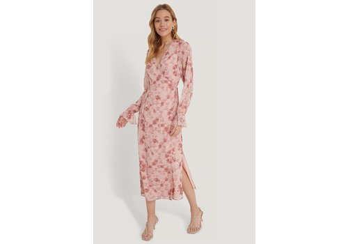 NAKD TIE STRAP OVERLAP DRESS ROSE PRINT