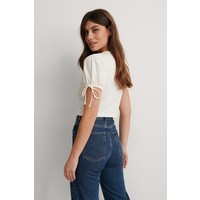 CROPPED JERSEY TOP WHITE