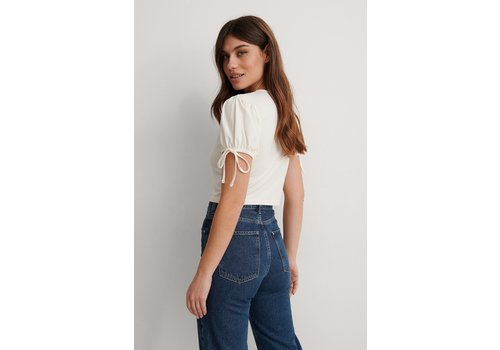 NAKD CROPPED JERSEY TOP WHITE