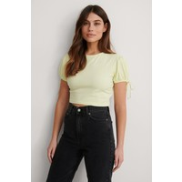 CROPPED JERSEY TOP YELLOW