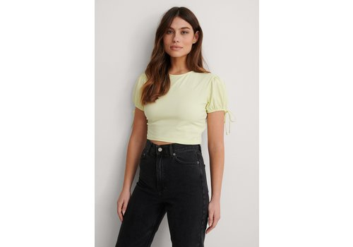 NAKD CROPPED JERSEY TOP YELLOW