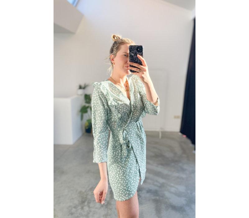 JACK GREEN FLOWER DRESS