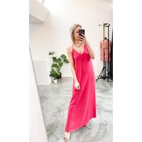 LIV STRAP DRESS FUSHIA
