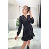 MISHA SPOTTED DRESS - BLACK
