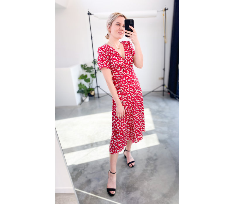 SIMONE  FLOWER DRESS - RED