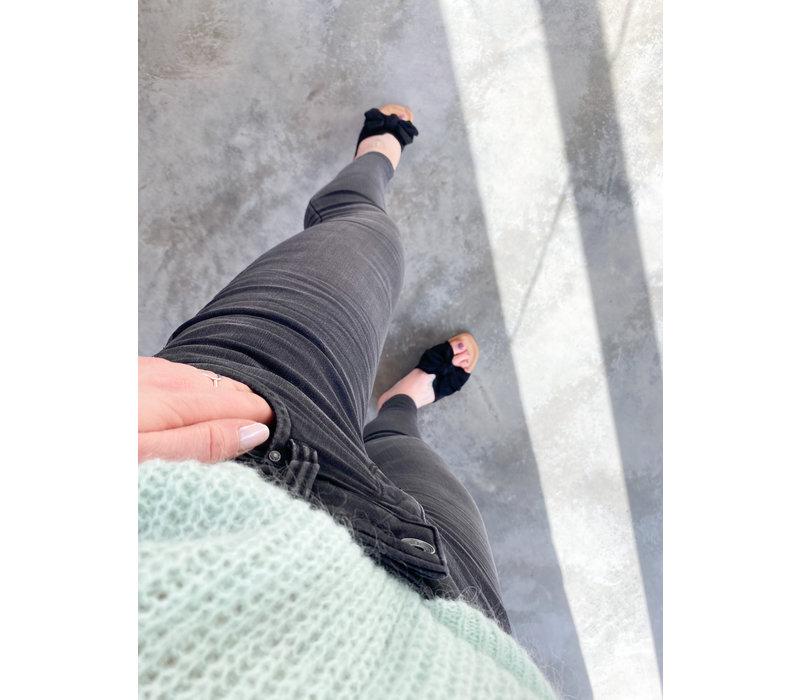 CUTE  BOW SLIPPER - BLACK
