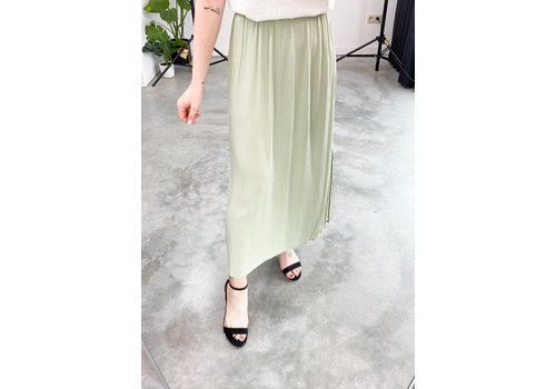 ICHI MARRAKECH SKIRT GREEN