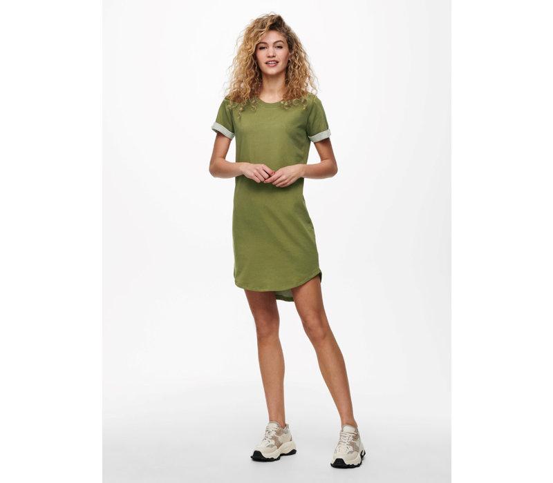 IVY SHIRT DRESS - OLIVE