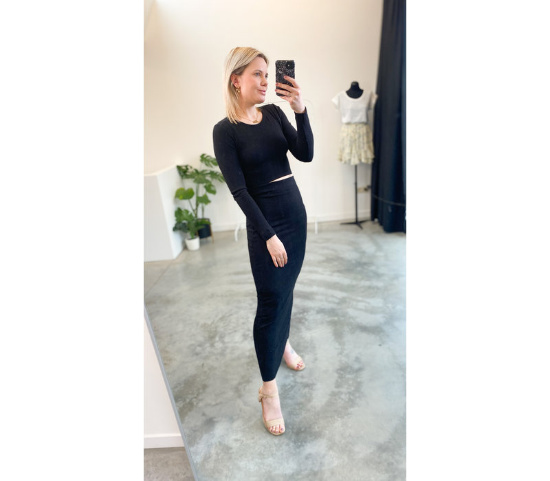 NAOMI TWINSET - BLACK