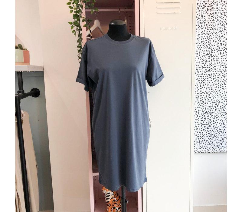 RIA SHIRT DRESS - OMBRE BLUE