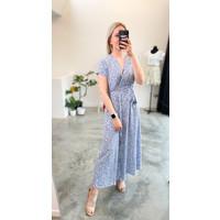 ELLEN FLOWER DRESS BLUE