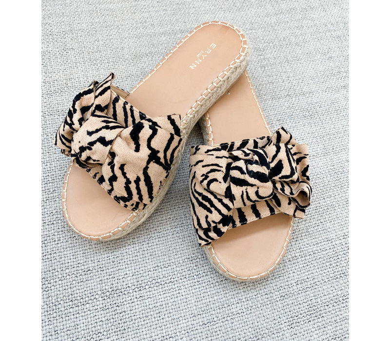 ANIMAL BOW SLIPPERS
