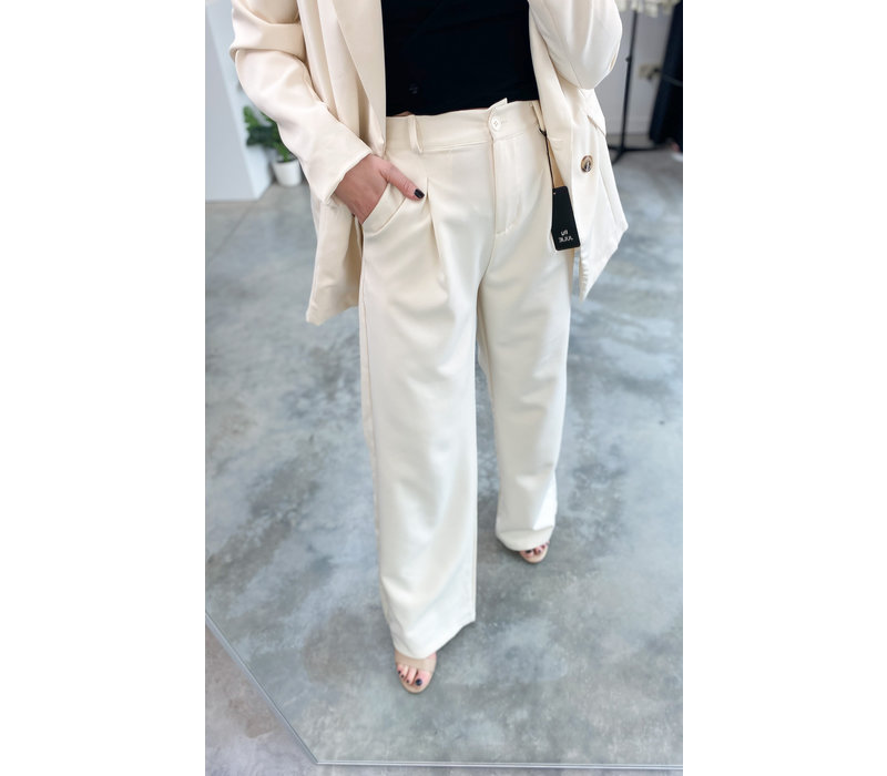 MARBELLA BEIGE WIDE PANTS