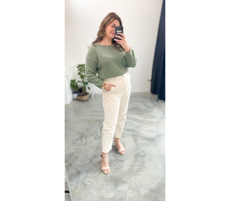 BEIGE MOM COHELIE JEANS