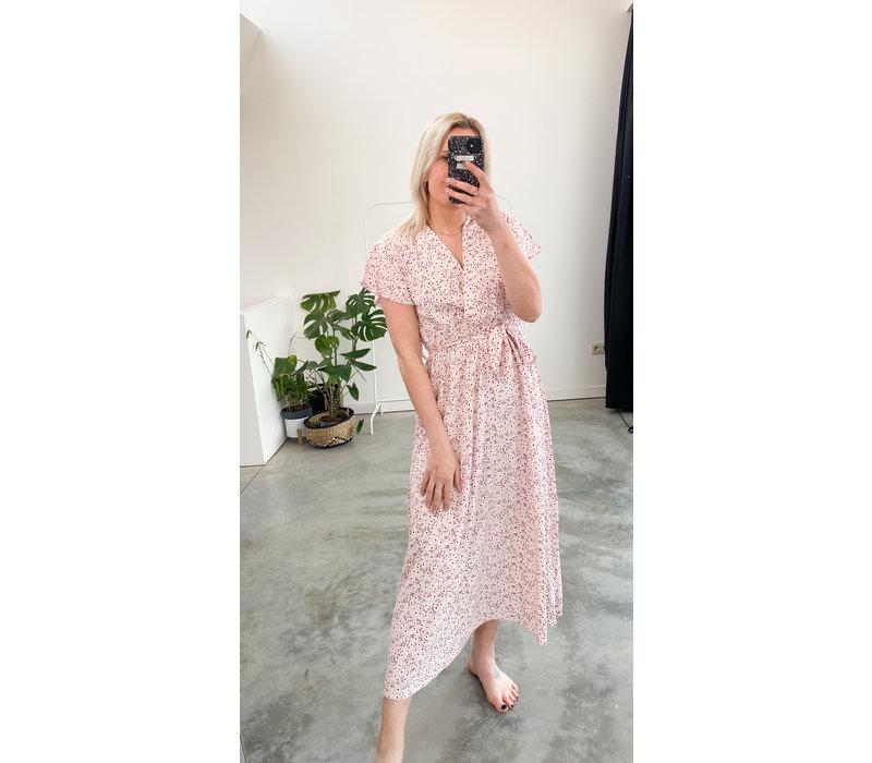 SARA PINKISH FLOWER DRESS