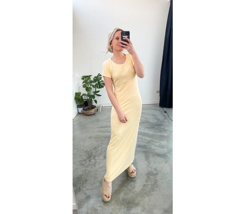 SOFT YELLOW MAXI DRESS