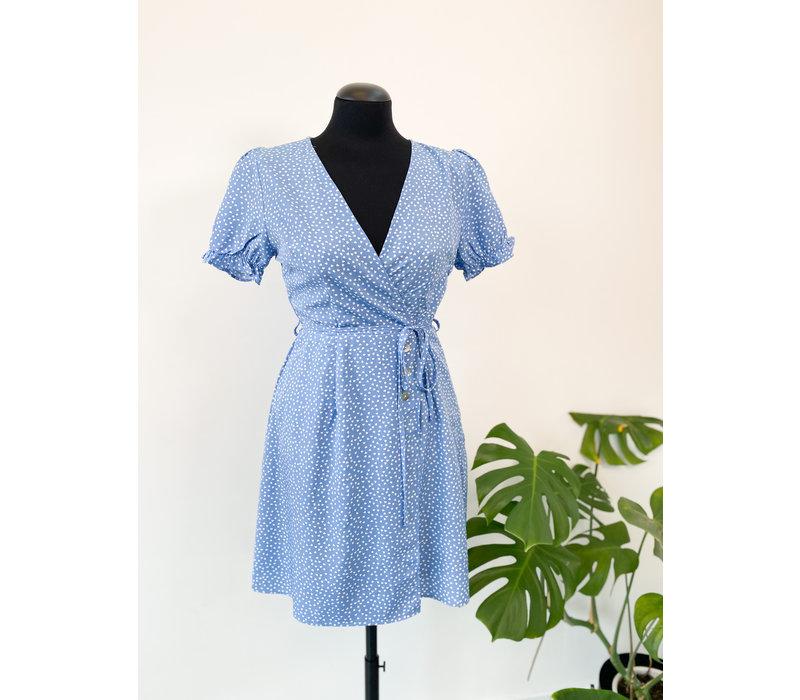 EMMY BLUE HEARTED DRESS