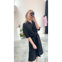 CECILIA BLACK SHIRT DRESS