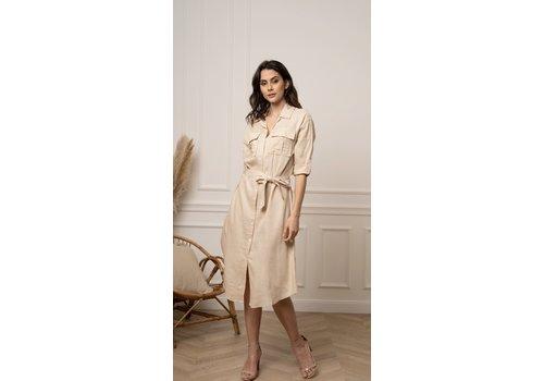 CECILIA BEIGE SHIRT DRESS