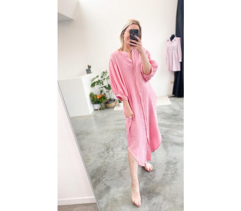 MARIE LONG PINK TETRA DRESS -TU