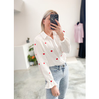 HEARTED RED BLOUSE