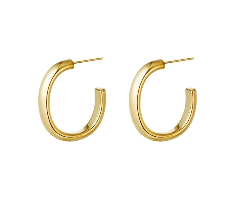 SMOOTH HOOPS GOLD