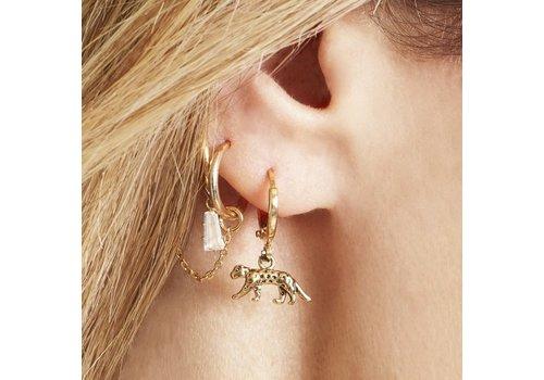 GO TIGER EARRINGS GOLD