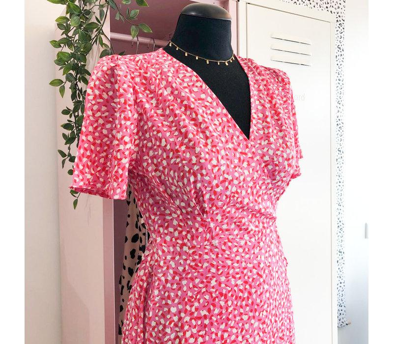 PINK FLAKE DRESS
