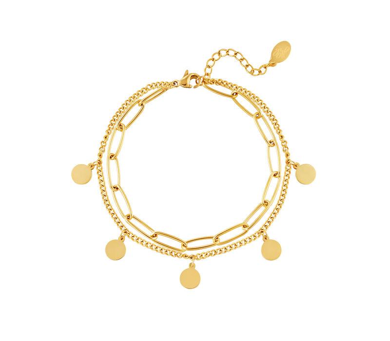 CHAIN CIRCLE BRACELET - GOLD